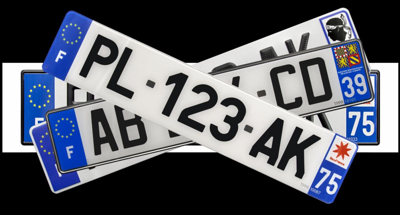 plaque auto